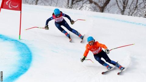 Winter Paralympics: Menna Fitzpatrick and Jen Kehoe win super combined silver