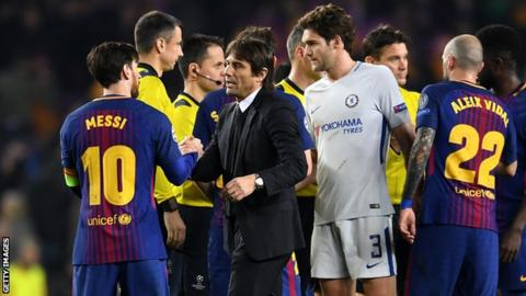 Antonio Conte: Chelsea boss says 3-0 defeat in Barcelona 'unfair'