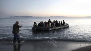 Children drown as migrant boat sinks