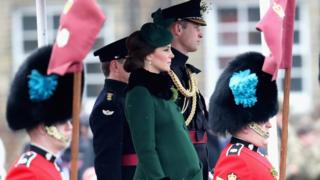 William and Kate brave snowy St Patrick