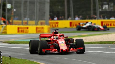 Sebastian Vettel top in wet-dry final practice