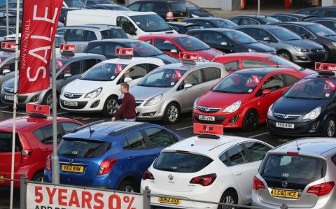 Decline in car sales eases but diesel collapse continues