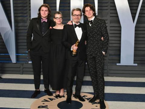 Son rejects abuse claims against Gary Oldman