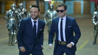 Bafta TV awards: Nomination for Ant and Dec's Saturday Night Takeaway