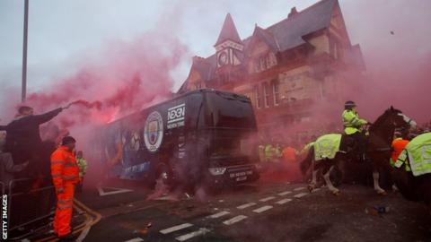 Liverpool v Man City: Reds apologise for damage to bus before Champions League tie