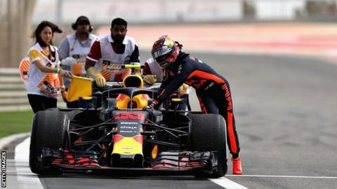 F1: Daniel Ricciardo fastest for Red Bull in Bahrain