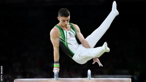 Commonwealth Games: NI's Rhys McClenaghan beats Max Whitlock to pommel horse gold