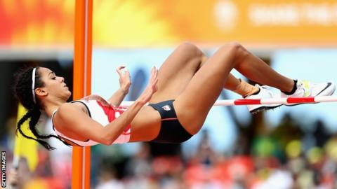 Commonwealth Games: Katarina Johnson-Thompson leading heptathlon after two events