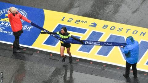 First US woman wins Boston race since 1985