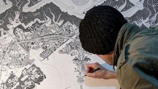 UK map artist details Chinese capital