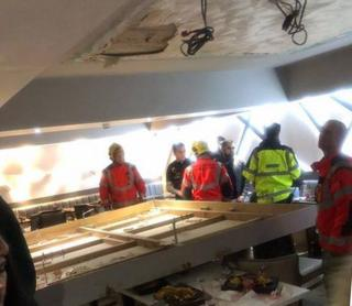 Diners hurt as ceiling collapses in Bolton restaurant