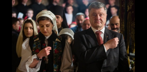 Poroshenko with his family prays for Ukraine on Easter