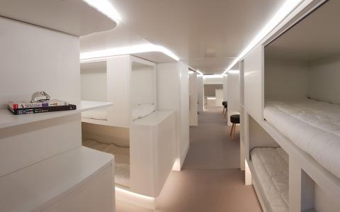 Airbus mulls mile-high beds with sleeping quarters in airliners' cargo decks
