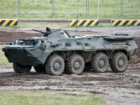Ukraine's military hardware arrives in Germany for international drills