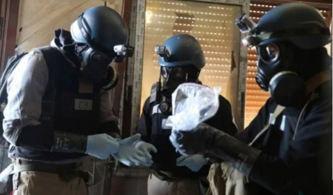 OPCW experts gather samples on chemical attack site in Syria again