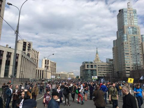Rally in support of Telegram takes place in Moscow