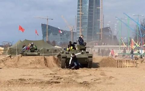 In St. Petersburg, tank ran over the visitors of the festival