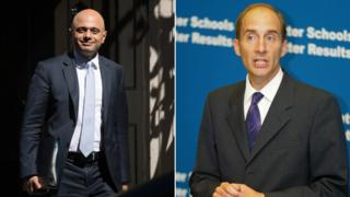Lord Adonis apologises for Sajid Javid cartoon tweet