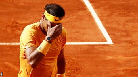 Madrid Open: Rafael Nadal beaten by Dominic Thiem as unbeaten run ends