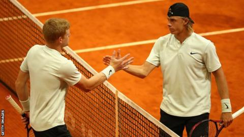 Madrid Open: Kyle Edmund beaten by Denis Shapovalov in quarter-finals