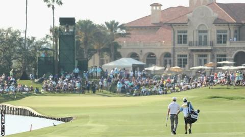 Players Championship: Webb Simpson leads by five at TPC Sawgrass