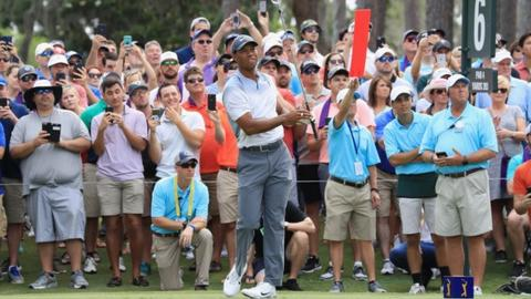 Players Championship: Tiger Woods & Jordan Spieth move into contention after third round 65s