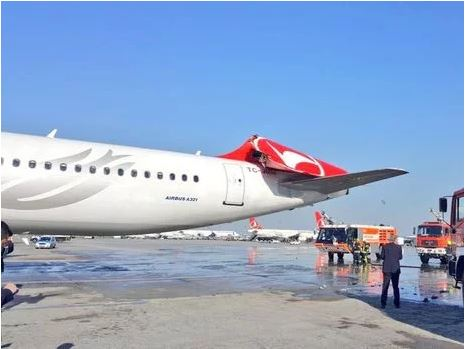 Two passenger jets collide at Ataturk airport in Istanbul