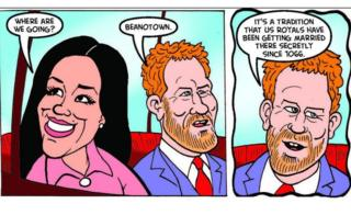 Beano joins in Meghan and Harry wedding celebrations
