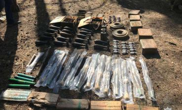 Ammunition cache discovered in Dnipro