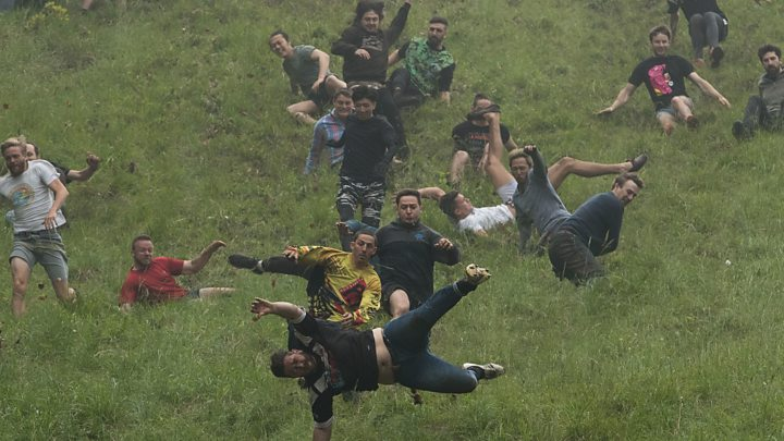 gloucester cheese rolling veteran breaks all time record news