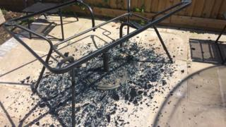 Father wants safety checks on glass tables after his shatters