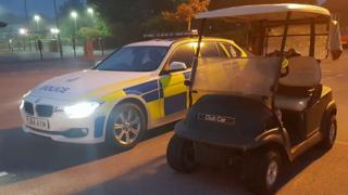 'Stolen' golf buggy stopped at McDonald's drive-thru
