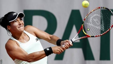 Heather Watson beaten by Elise Mertens in French Open second round