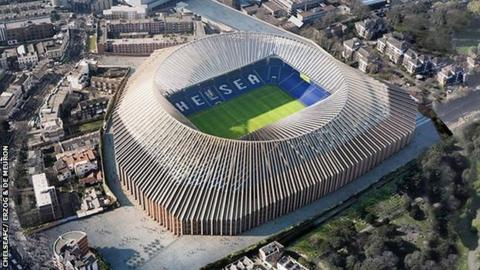 Chelsea put stadium plans on hold because of 'unfavourable financial conditions'