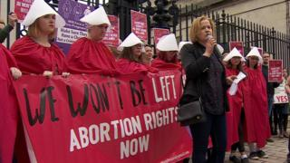Abortion pills handed over to police at Belfast pro-choice rally