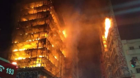 Fire in Sao Paulo: one person dies