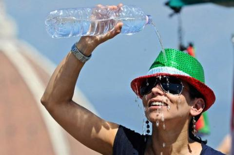 Record-breaking heat in Kyiv