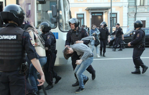 """He is not our Tsar"" protests: 1600 people detained"