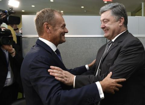 Poroshenko and Tusk agreed to hold jubilee Ukraine-EU summit in Brussels