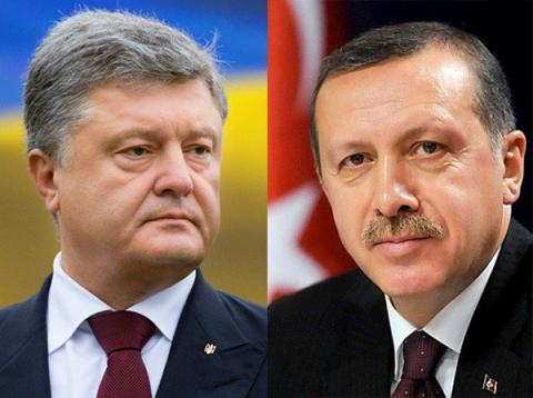 Poroshenko, Turkish Erdogan discuss free trade between countries