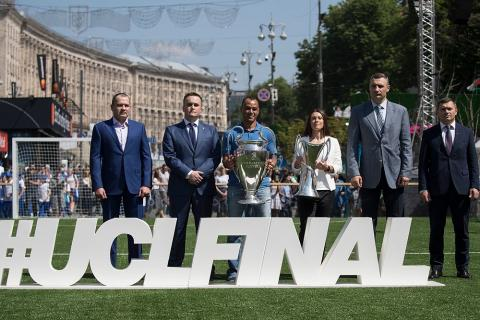UEFA Champions Festival: Main fan zone was opened in Kyiv downtown