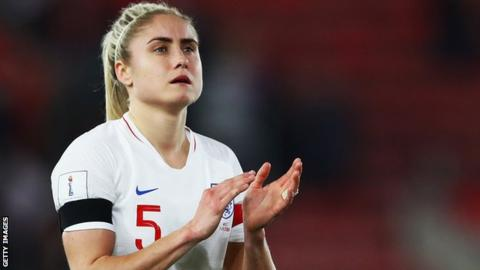 Steph Houghton: England captain out of World Cup qualifier with Russia