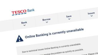 Tesco Bank hit by online glitch