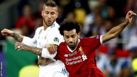 Sergio Ramos: Mohamed Salah 'arm grab' led to shoulder injury