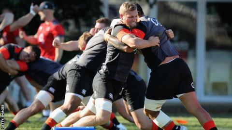 South Africa v England: Uncapped forward Brad Shields on bench for England