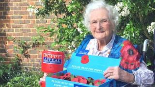 Queen's Birthday Honours 2018: Poppy seller, 103, gets MBE