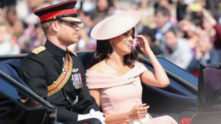 Trooping the Colour: Meghan and Harry join Queen at parade