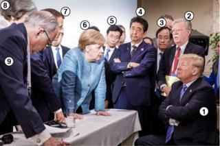Trump at G7: Who's who in Merkel's photo?