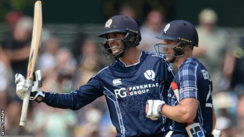 Scotland stun England as Calum MacLeod hits 140 not out in Edinburgh