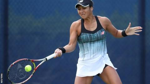 Nottingham Open: Heather Watson into second round in straight sets